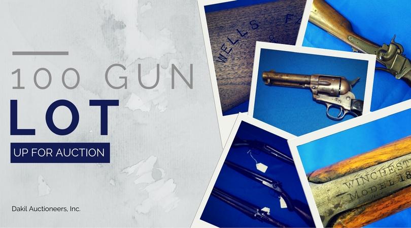 100 gun lot at dakil auctioneers