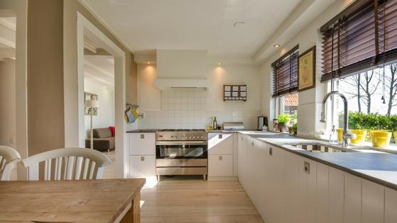 household kitchen area